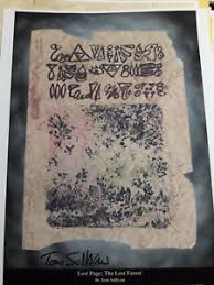 image is loading evil dead necronomicon book page print signed by