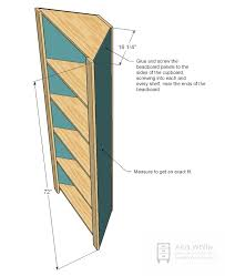 corner bookcase plans ana white corner cupboard diy projects design pictures