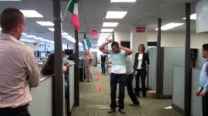 Team Acq Office Soccer Obstacle Course Youtube