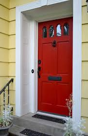white front door yellow house. Red Front Door To Boost Positive Energy Of Your House White Yellow T