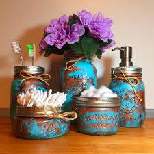 copper coloured bathroom accessories. copper patina mason jar bathroom set coloured accessories s