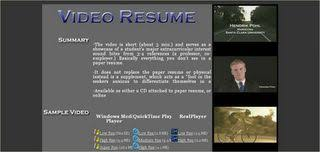 video resume links video resume sample