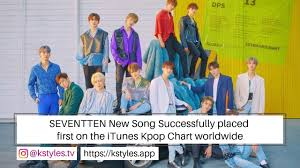 Kpop News Seventeen New Song Successfully Placed First On