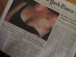 Breast Tattoo Womens Bodies Jewish Front Page Of The New York