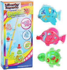 Green Magnet Fishing Light Review Liberty Imports Magnetic Light Up Fishing Bath Toy Set For Kids Rod And Reel With Sea Turtle And 5 Unique Fish Ideal For Kids Age 3 4 5 6 Year