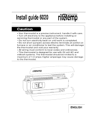 rite temp 6020 installation guide thermostat