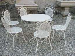 white iron patio furniture.  Patio Image Of Modern White Wrought Iron Patio Furniture In