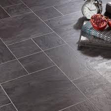 libretto black slate tile effect laminate flooring 1 86 m² pack departments diy at b q