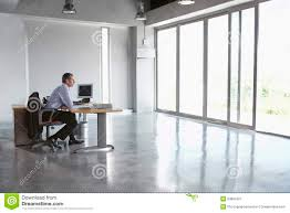 person office. Man Sitting At Desk In Empty Office Stock Image - Of Businessperson, Indoors: 33887907 Person