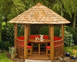 garden circular wooden gazebos small