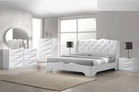 4pc Master Bedroom Furniture Eastern King Size Bed Off-White Modern ...