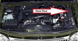 fuses and relays box diagram mercury mountaineer  mercury mountaineer2 blok kapot idendifiying fuse box