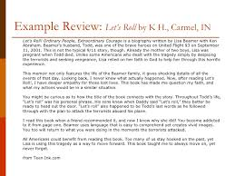 writing a book review example review