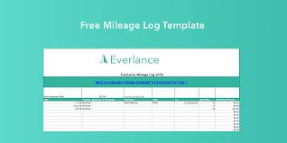 Free Mileage Log Template For Excel Everlance Blog