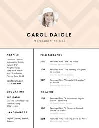 Actor Resume Template Impressive Customize 28 Acting Resume Templates Online Canva