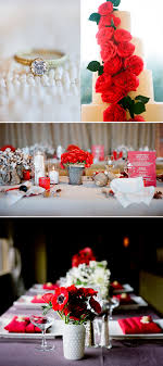 red and white table decorations. Wedding Decor: Red White Black Decorations For The Big Day Casual \u0026 Simple And Table