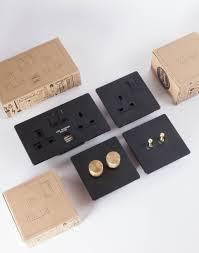 Brushed Copper Light Switch Designer Dimmer Switch Double Black Dimmer Switch Light