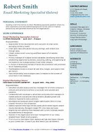 Marketing Resume Examples Unique Email Marketing Specialist Resume Samples QwikResume