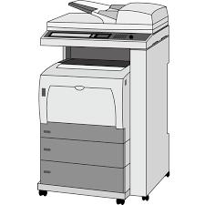 ビジネス コピー機複合プリンターカラー 無料イラスト