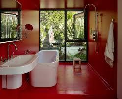 mocha wall paint with bathroom window wall bathroom modern and ...