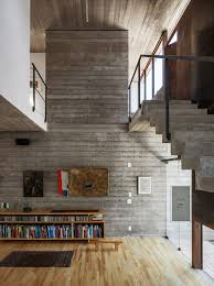 Concrete Wood Floors Concrete Wall Art Wooden Flooring Urban House In So Paulo Brazil