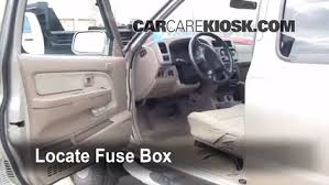 interior fuse box location 1998 2004 nissan frontier 2001 locate interior fuse box and remove cover