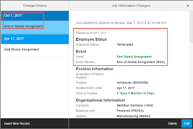 Employee Status Global Assignment Detailed Walkthrough In People Profile 3 Using