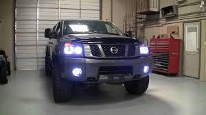 2009 nissan titan 4x4 custom halo headlights by advanced automotive concepts you