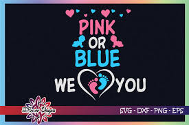 Free vector icons in svg, psd, png, eps and icon font. Pink Or Blue We Love You Footprint Graphic By Ssflower Creative Fabrica
