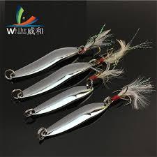 1Pcs Artificial Lure Bait Metal VIB <b>Willow shaped</b> Band Bending ...