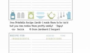 Cute Recipe Card Templates - Beni.algebra-Inc.co