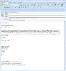 How To Mail A Resume And Cover Letter Email Job Application Attached