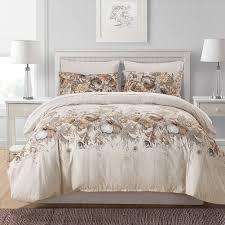 langteng lightweight printed pattern microfiber duvet cover set soft bedding set 3 pcs twin queen