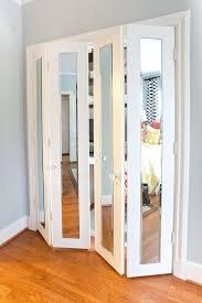 accordian closet door hang mirrors on your doors and easy that will vastly improve home accordian closet door
