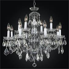 iron and crystal chandelier old world iron 543ad12lvp 3c