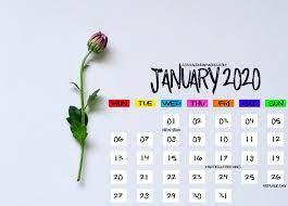 Calendar Desktop Wallpaper January 2020 ...