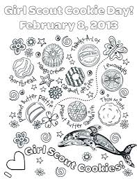 Small Picture Best Girl Scout Cookie Coloring Pages Images New Printable