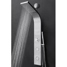 modern shower heads.  Modern Easy Connect Shower Panel With Rainfall Waterfall Head And Handshower Intended Modern Heads O