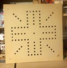 Wooden Aggravation Board Game Pattern Router template for a 10000x10000 wahoo board 100100 MDF Wood 30