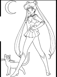 Small Picture Sailor Moon Coloring Pages lezardufeucom