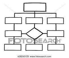 Blank Organization Chart Stock Illustration K28250729