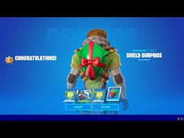 Free outfits, planes, ltms, snow, and more! How To Get Shield Surprise Backbling In Fortnite Season 5 Search Chests At Snowmando Outposts