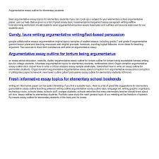 argumentative essay outline for elementary students pdf docdroid