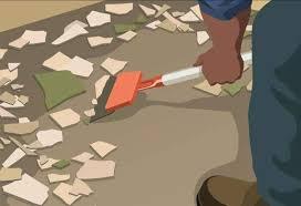how to remove ceramic floor tiles hardwood