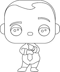 Small Picture Funko Pop Boss Baby Boss Baby Diaper And Tie Coloring Page