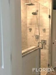glass shower door with chrome hardware and custom square pull handle frameless doors portland oregon enclosures