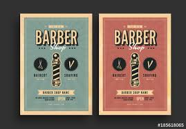 barber flyer retro barbershop flyer with sunburst background buy this stock