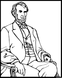 abraham lincoln coloring page