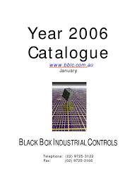 black box industrial controls catalogue 2005