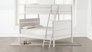 Wrightwood White Twin-Over-Full Bunk Bed + Reviews | Crate and Barrel